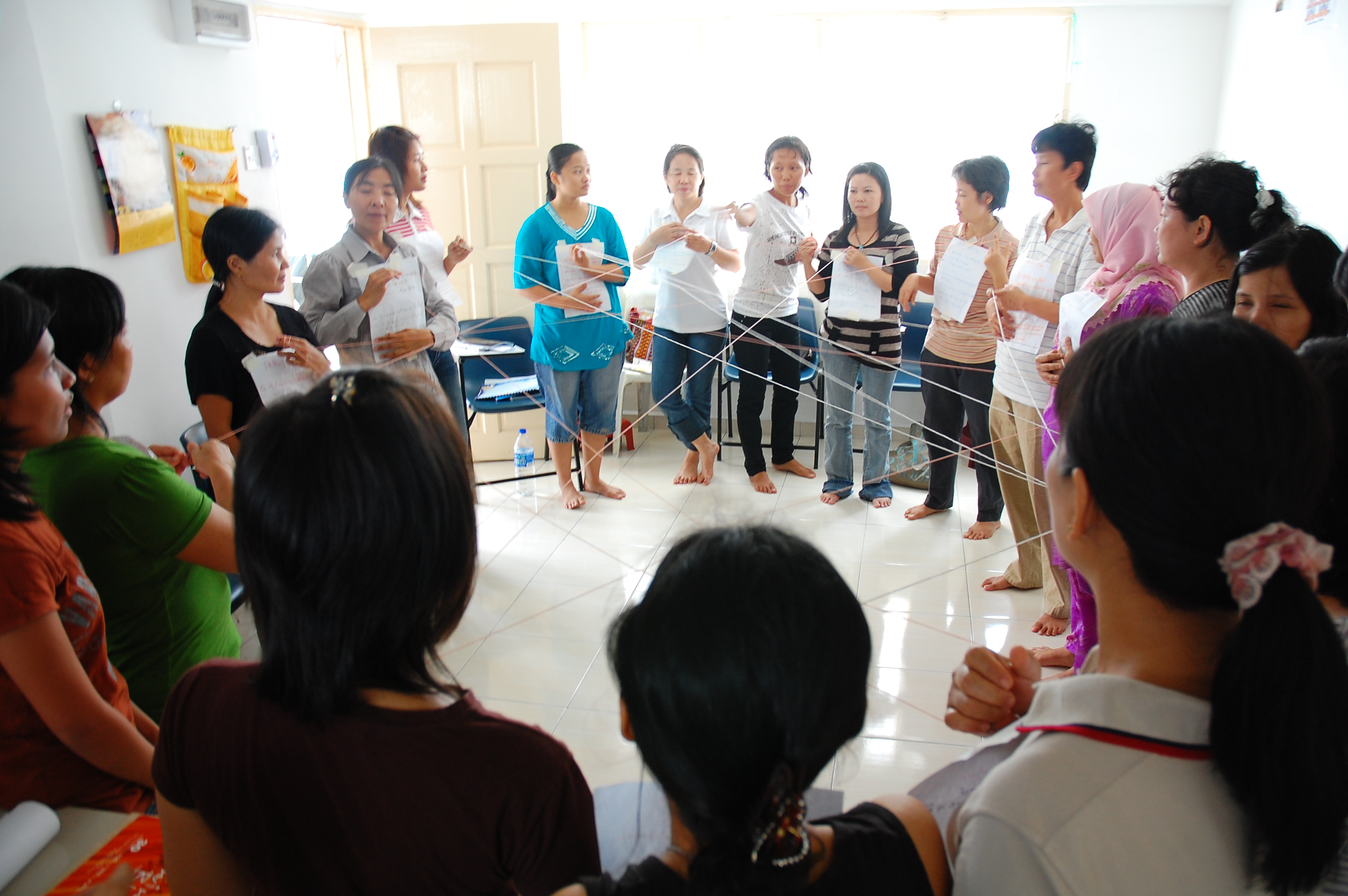 A session with Burmese Refugee women