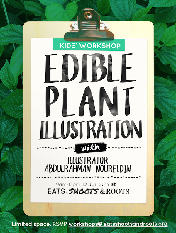 Edible Plant Illustration Workshop Poster (Portrait) 2