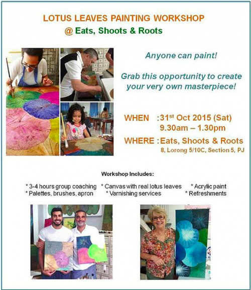 Lotus Leaves Painting Workshop with Himapan Malaysia