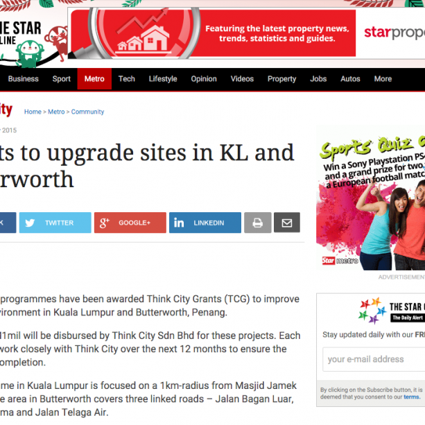 The Star - Grants to upgrade sites in KL and Butterworth - Community | The Star Online