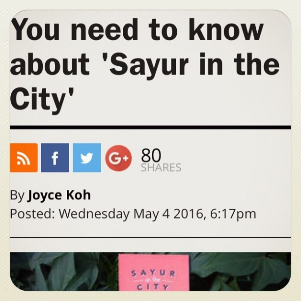 Many thanks to @timeoutkl for featuring Sayur In The City on the website and in print! Go get your copy of this month's Time Out KL magazine or check out the article on http://www.timeout.com/kuala-lumpur There are loads more to come, so make sure to keep an eye out for more #SayurInTheCity!