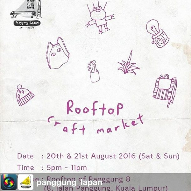 After our talk at 3pm we'll have our new seed boxes and sayur shirts for sale this Saturday :) from @panggung_lapan with #sharegram.app. Can't have enough with our Anonymous Art Market? Come join us @ Rooftop Craft Market for even more surprises。