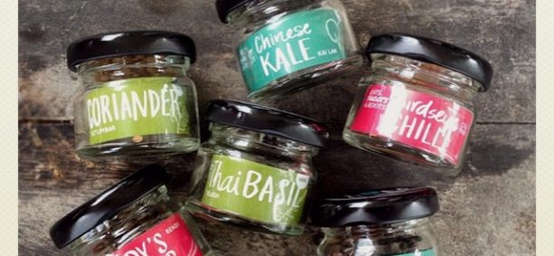 Seed Jars: 2016 Edition. Vacuum sealed in reusable and recyclable glass jars for longer life. Yay!