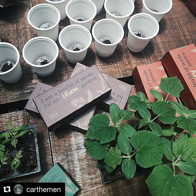 Had a lovely afternoon session today sharing about growing sayur in the city with @aesopskincare at @chochafoodstore. Repost from @carthemen -- Honing a green thumb with @eatsshootsandroots and @aesopskincare