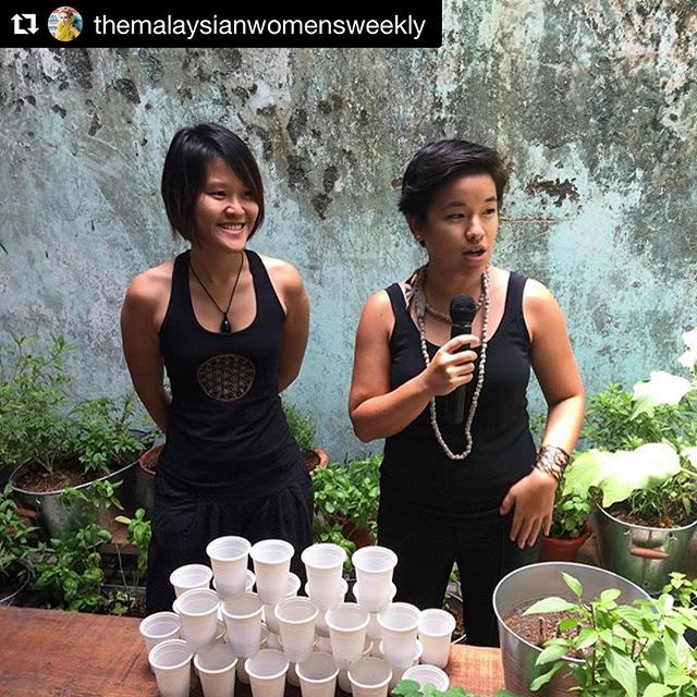 "from @themalaysianwomensweekly -- Following the naturalist theme, Aesop invited our very own naturalists, Khim and Shao-Lyn of @eatsshootsandroots this morning to share with us how to grow our very own edible garden right here in KL city!  Shao-Lyn's tip to keep your garden flourishing? ""Try to grow plants that can thrive in our climate. If you want to grow basil, it only makes more sense to plant Thai basil as opposed to the Italian variant as Thai weather is more similar to ours."" @aesopskincare"