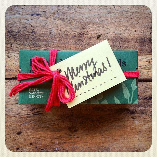It's that consumer-driven time of year where people are compelled to buy gifts for their loved ones! So why not buy something that can grow into something? Like our Seed Boxes? :) Our seeds come packed in glass jars that you can either reuse for saving seeds, or recycle. The paper packaging is compostable  Even our gift tag string is made from 100% cotton so it can biodegrade if you accidentally chuck it somewhere