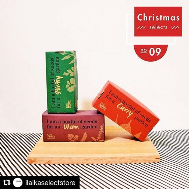 @ilaikaselectstore ・・・ 9 days to Christmas  folks! Featured in photo: Seedboxes by Eats, Shoots & Roots
